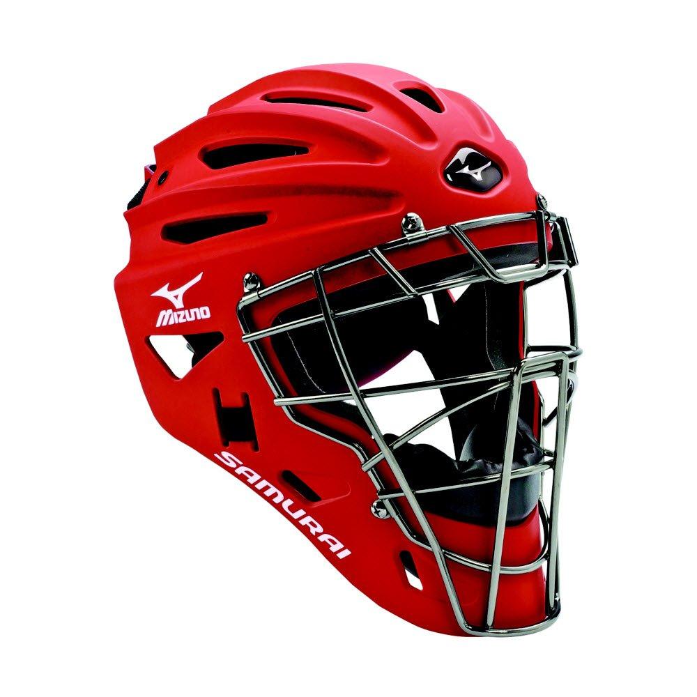 Mizuno G4 Samurai Catcher's Helmet, Red by Mizuno
