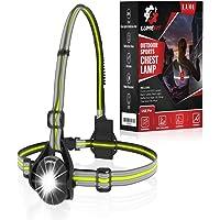LUMEFIT Hardloopverlichting, Hardlooplicht, Borst LED-lamp - 90° verstelbare stralingshoek, 360 graden reflecterende…