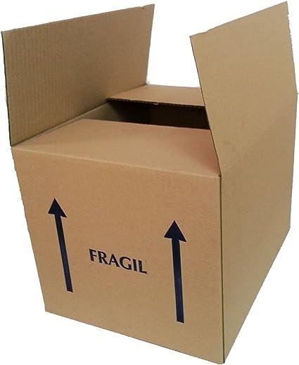 Pack de 20 cajas de cartón grande. Simple 40 x 40 x 31 cm. Marrón. Resistente: Amazon.es: Oficina y papelería