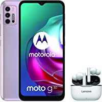 هاتف موتو جي 30، روم 128 جيجا بايت، ذاكرة رام 6 جيجا بايت، ازرق سماوي فاتح + سماعات لينوفو لايف بودز مجانية