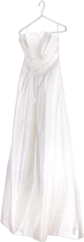 Hangerworld 2 Perchas 40cm Decoradas con Perlas Blancas Barra para Pantalones y Falda Boutiques