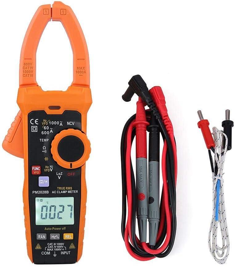 Amperometrica a Pinza Digitale a 6000 Conteggi Tester di Resistenza di Frequenza PM2028A Multimetro a Morsetto PEAKMETER PM2028A//B