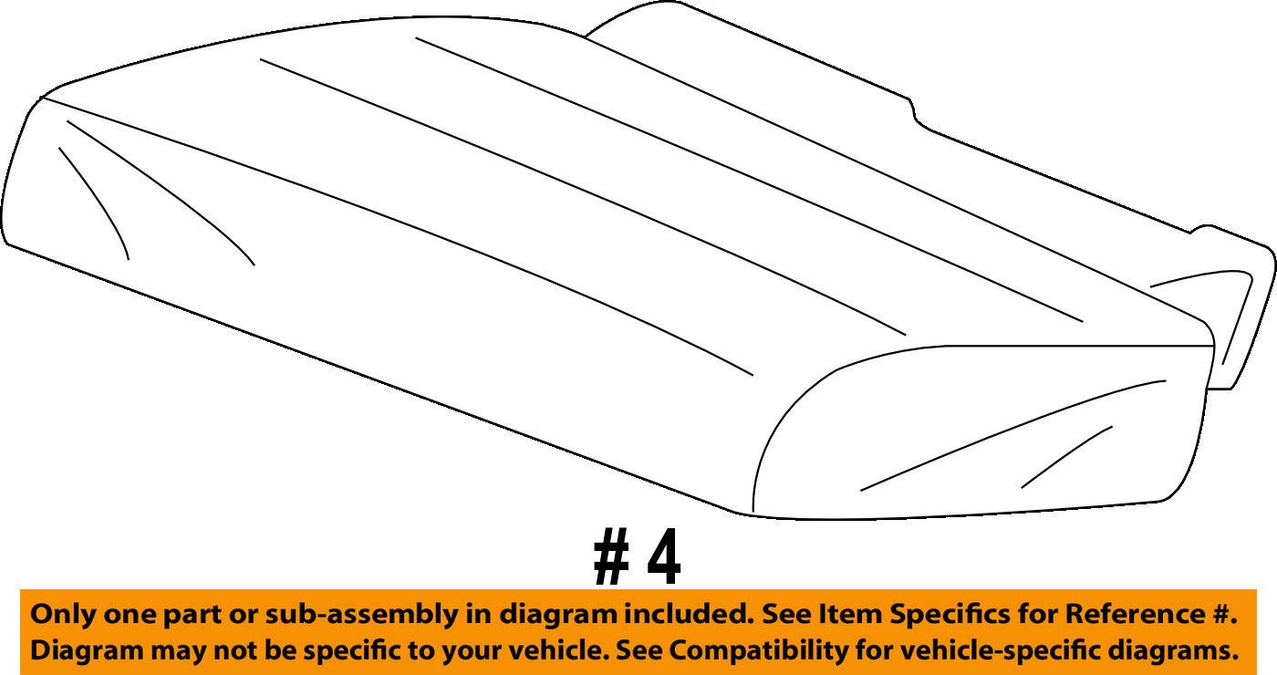 Left Honda Genuine 82531-TK8-A01ZB Seat Cushion Trim Cover Rear