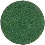 Merit Zenith Abrasive Disc, Resin Bond, Fiber Backing, Type II, Ceramic Aluminum, 2'' Diameter, Grit 60 (Box of 100)