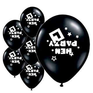 For Happy, Mchoice 10 Pc Hen Night Light Pink & Black Balloons Hen Party Decorations