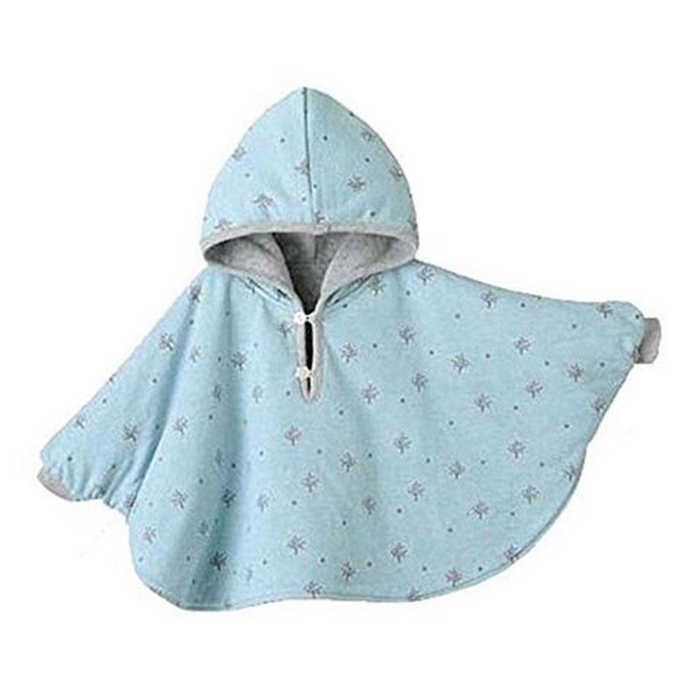 hibote Bébé Kids Toddler Double-Side Wear Hooded Cape Capeak Poncho Hoodie Coat Mantle R170929DP01HN