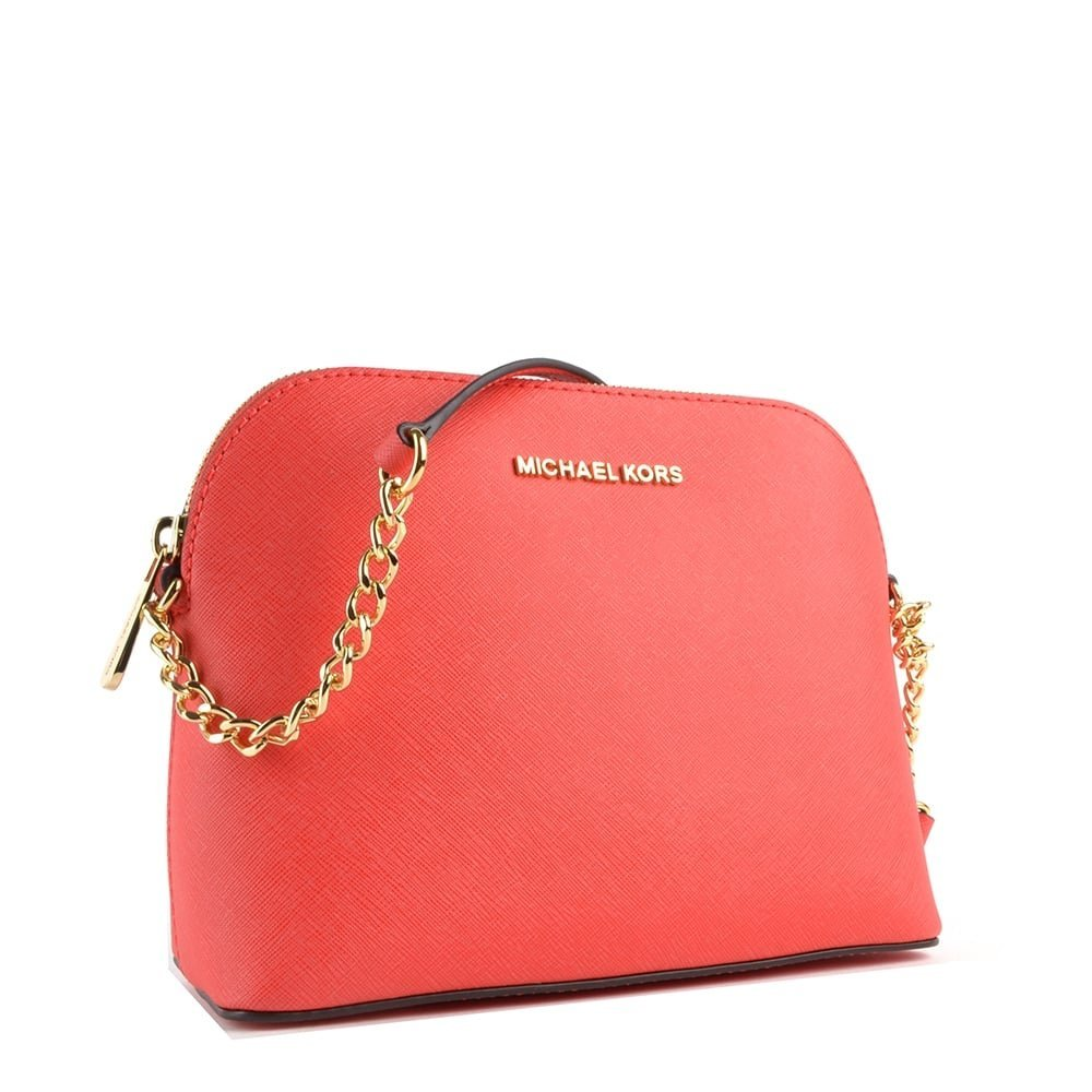 e963fdda5b79 MICHAEL by Michael Kors Cindy Coral Large Dome Crossbody Bag one size Coral:  Amazon.co.uk: Shoes & Bags