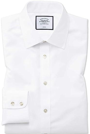 51087ad013 Charles Tyrwhitt Extra Slim Fit Non-Iron Twill Shirt Classic Collar - White  (15