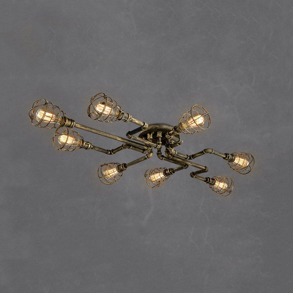 シーリングライト アメリカのレトロな金属屋根裏の天井のライト高輝度E27光源創造的な産業風鉄のアートバーレストラン水パイプ天井のライトAC 110 ) heads - 240V ( Nine Size : Nine heads ) B0756KY79T Nine heads, SPOTCHECK.SHOP:a313cc60 --- m2cweb.com
