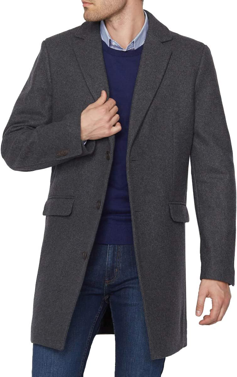 La Redoute Collection Wool Mix Single-Breasted Coat with Pockets Grey Size Xs