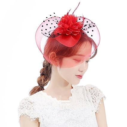 Cappelli Di Velo Da Donna In Piuma D epoca Fascinator Flower Con Copricapo  Per Cappelli 0162cd85178