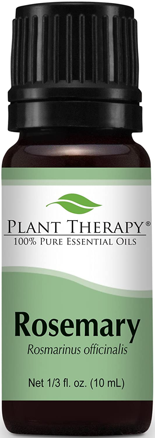 Plant Therapy Rosemary Essential Oil. 100% Pure, Undiluted, Therapeutic Grade. 10 ml (⅓ oz).