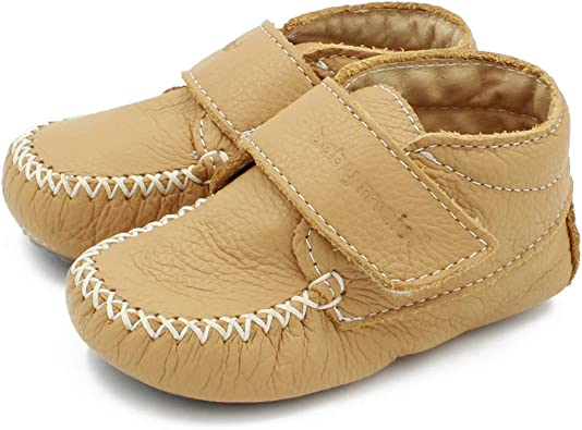 Baby Shoes Camel Leather Moccasins Made