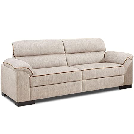 Ealing Cream Chenille Fabric Sofa Collection (All Combinations Available)  (3 Seater)
