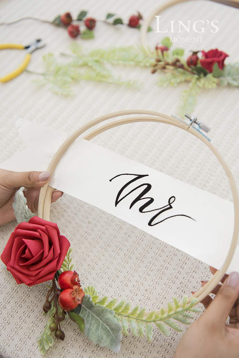 Lings-moment-2-Set-Wedding-Backdrop-Handcrafted-Flower-Wreaths-Rustic-Wedding-Decor-Artificial-Roses-Plant-Flower-Garland-Woodland-Christmas-Decoration-Floral-Hoop