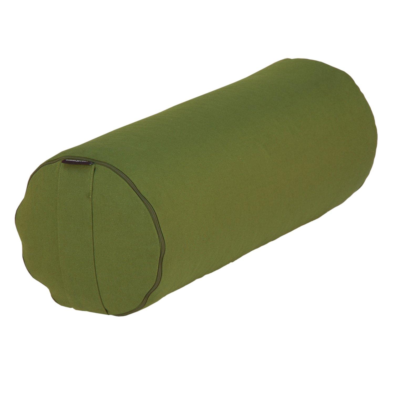 Yoga Rolle rot Dinkelf/üllung Yoga- und Pilates-Bolster BASIC 65 x /Ø 23 cm Yoga Hilfsmittel mit Dinkel-H/ülsen gef/üllt verf/ügbar in 7 Farben