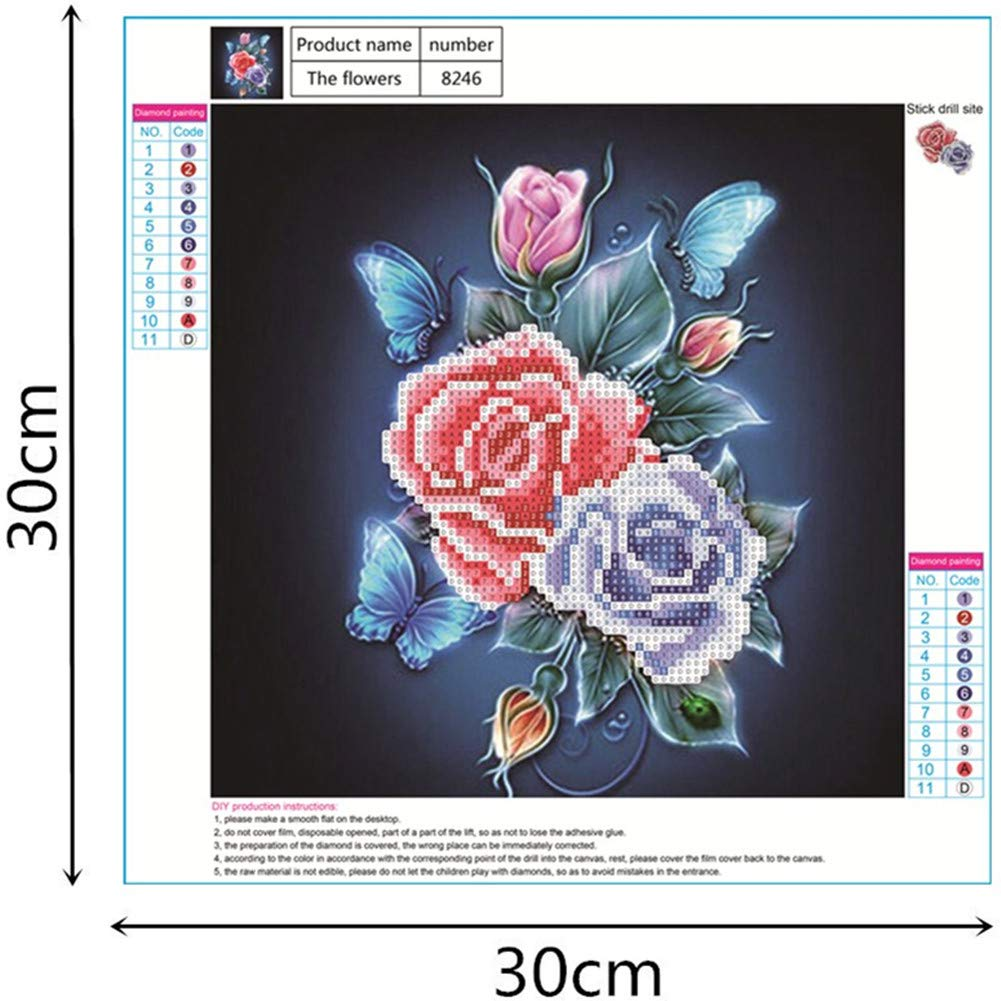 Two Roses Diamond Painting Kit