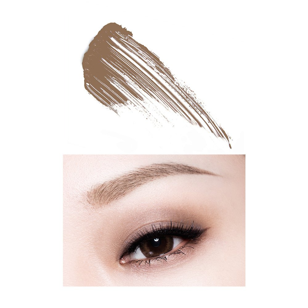 PONY EFFECT Contoured Brow Color Natural Brown 6g, 0.2 Ounces, Brow Mascara, Eyebrow Makeup, Waterproof, Paired Brows and Hair Color, For Medium To Dark Blonde Hair