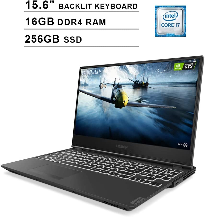 Lenovo Legion Y540 15.6 Inch FHD 1080P Gaming Laptop - 9th Gen Intel 6-Core i7-9750H up to 4.5 GHz, NVIDIA GTX 1660 Ti 6GB, 16GB RAM, 256GB PCIe SSD, Backlit KB, WiFi, HDMI, Windows 10