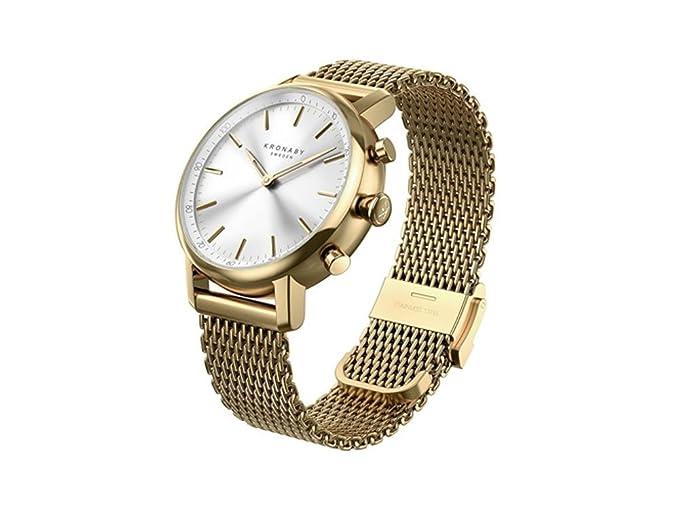 Amazon.com: Kronaby Carat Quartz Watch, Silver, 38mm, 10 atm ...