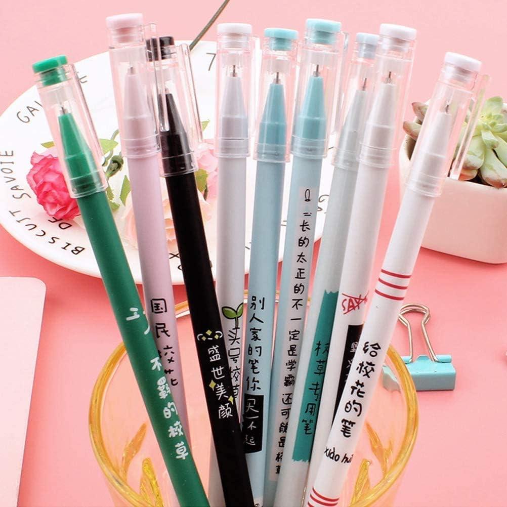 8pcs//Set pens/&Refills 0.5mm Student Gel Pens Office School Supplies Stationery