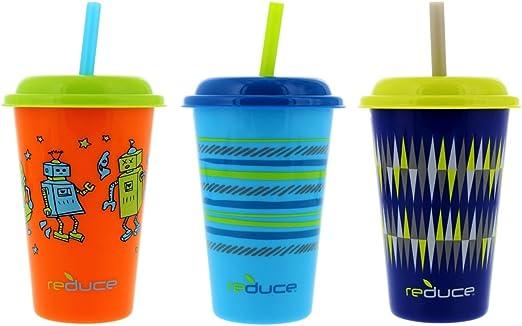 Kid Baby Toddler Slippy Training Cup Drinking Set With Straw Mug Tumbler Home