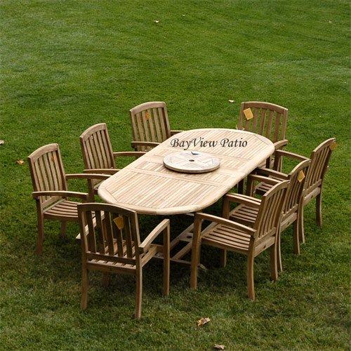 New 9Pc Grade-A Teak Outdoor Dining Set 83