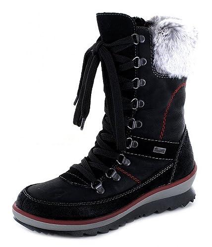 6eb79f7f11504 Rieker children's boots K4372-01 black, Farben:schwarz;Kinder Größen:33
