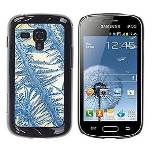 TopCaseStore / la caja del caucho duro de la cubierta de protección de la piel - Crystal Sun Blue White Winter - Samsung Galaxy S Duos S7562