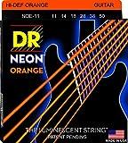 DR Strings NOE-11 Coated Nickel Hi-Def Orange Electric Guitar Strings, Heavy
