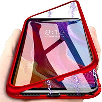 Funda Xiaomi Redmi Note 7, [Tecnología De Absorción Magnética][Marco de Metal] [Clear Tempered Glass Back] Slim Fit Ultra Carcasa de Peso Ligero, para Xiaomi Redmi Note 7 Cover Case: Amazon.es: Electrónica