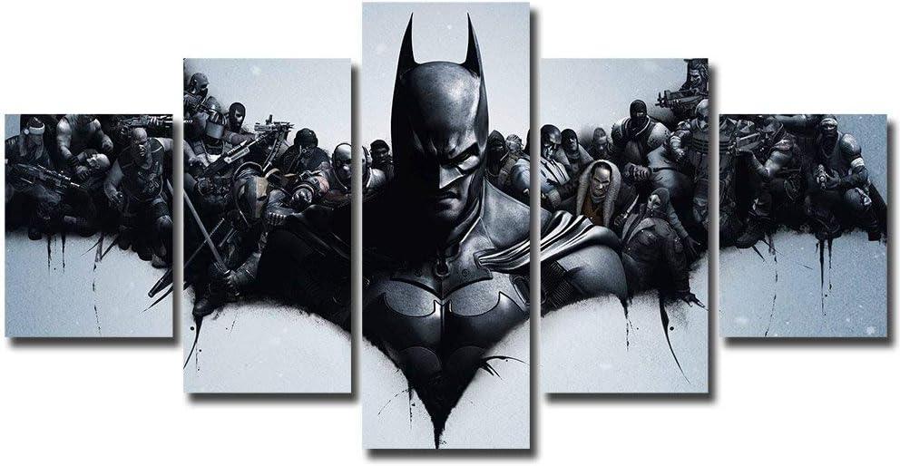 Dark Knight Villains Batman DC Poster Canvas Print Art Home Decor Wall Art