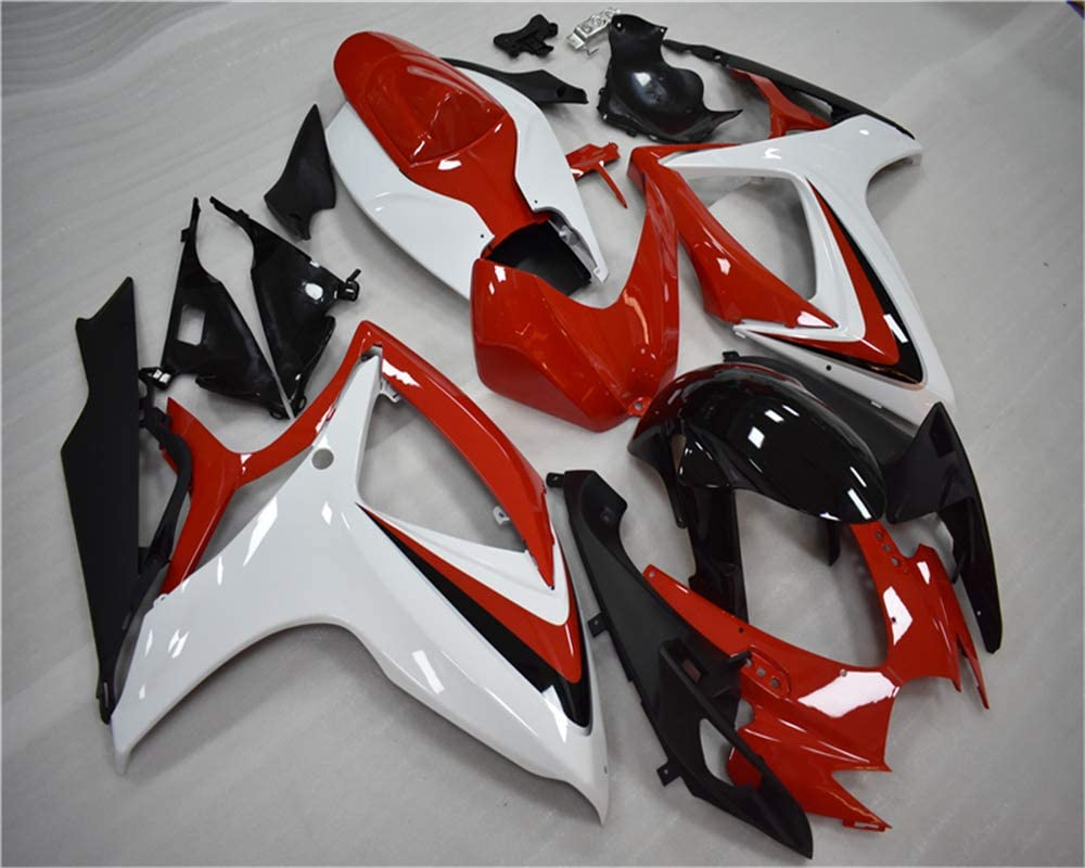 NT FAIRING Red Silver Injection Mold Fairing kits Fit for Suzuki 2006 2007 GSXR 600 750 K6 GSX-R600 Aftermarket Painted ABS Plastic Motorcycle Bodywork