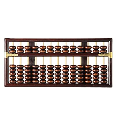 Vintage Style Wooden Abacus Chinese Lucky Calculator 13 Column Math Professional Abacus for Adults Kids: Office Products