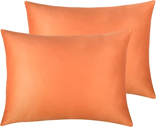 Amazon Com Ntbay Zippered Satin Pillowcases 2 Pack Soft And