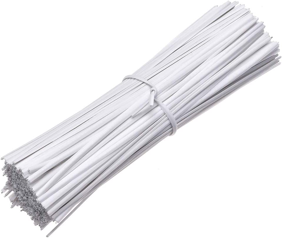 uxcell 4 Inches Plastic Twist Ties Reusable Cable Cord Wire Ties White 500pcs