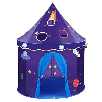 Wonder Space Children Play Tent - Space Rocket Castle Pop Up Kids Playhouse, Ideal Indoor Outdoor Gift Game Toy for Boys and Girls: Toys & Games