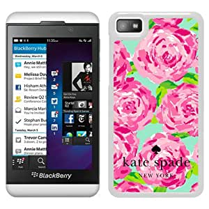 Fashionable And Unique Designed Kate Spade Cover Case For Blackberry Z10 White Phone Case 102