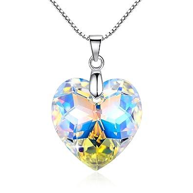 5a043f9c0456 GoSparkling Corazón de Cristal colgante