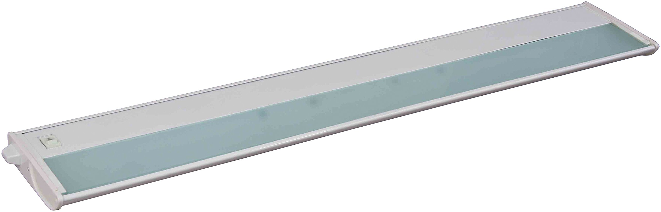 Maxim 87843WT CounterMax MX-X120c 30'' 4-Light 120V Xenon, White Finish, Glass, G8 Xenon Xenon Bulb , 12W Max., Wet Safety Rating, 3000K Color Temp, ELV Dimmable, Glass Shade Material, 840 Rated Lumens