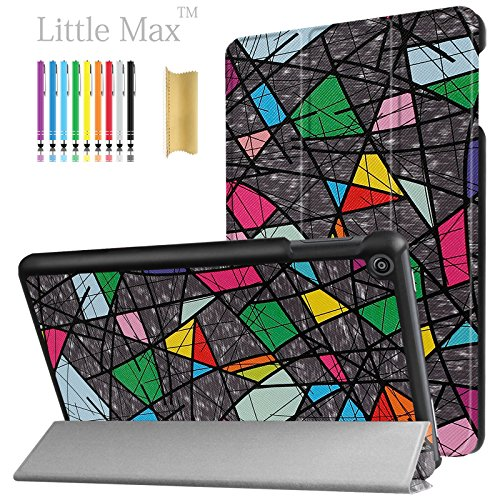 HD 8 Case,LittleMax(TM) PU Leather Lightweight Case Folding Stand Cover with Auto Wake/Sleep Slim Shell for Amazon Kindle Fire HD 8 (6th Gen 2016 & 7th Gen 2017) 8