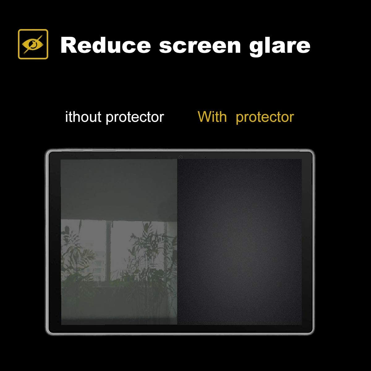 Help For Your Eyes Reduce Fatigue 2 Pack Matte Anti-Glare Screen Protector For Microsoft Surface Pro 7,Surface Pro 6,Surface Pro 5 and Surface Pro 4 Laptop,With Surprise Keyboard Cover