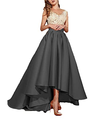 6547654583 Dressesonline Women s Lace Appliques Formal Prom Dresses High Low Evening  Dress US2