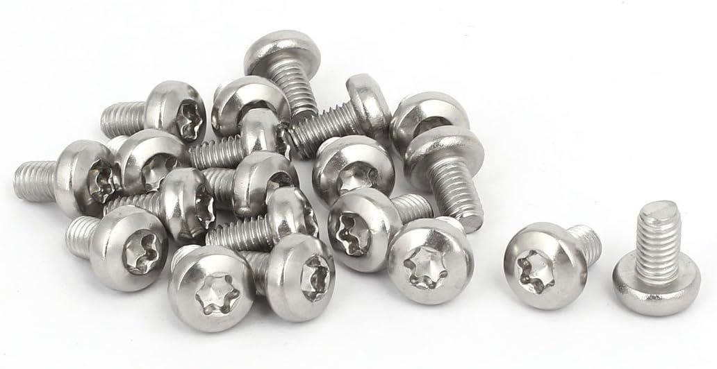 uxcell M6x10mm 304 Stainless Steel Pan Head Torx Machine Screws Bolts Fastener 20pcs a16121400ux0351