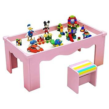 Mesa de Estudio para niños, Mesa de Madera multifunción, Mesa de ...