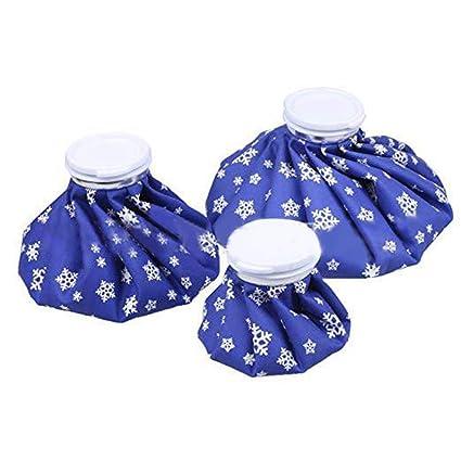 Bolsa de hielo reutilizable 3PCS Bolsa de agua caliente, lesiones deportivas, primeros auxilios, bolsa de hielo para lesiones, terapia de frío y calor ...
