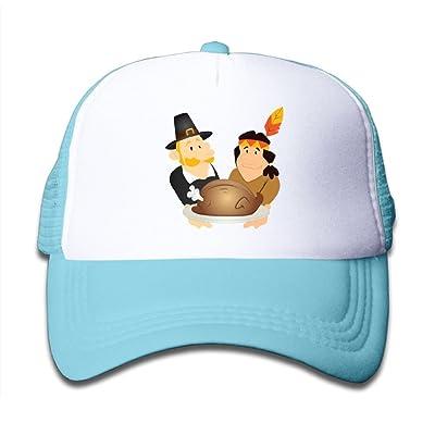 NO4LRM Kid's Boys Girls Thanksgiving Day Youth Mesh Baseball Cap Summer Adjustable Trucker Hat