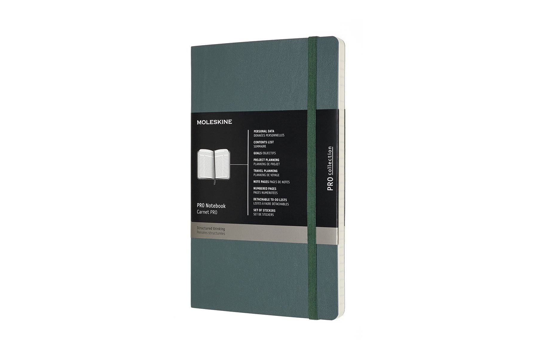 Moleskine Pro Soft Cover Notebook Large (5 x 8.25) Forest Gr
