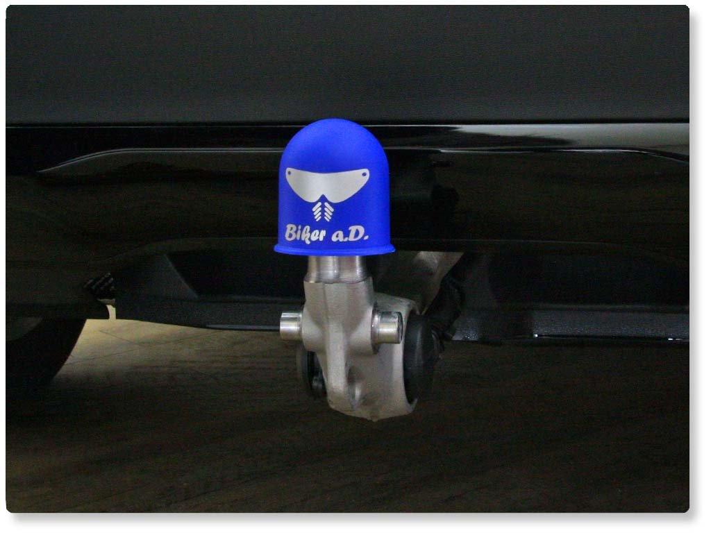 Schutzkappe Anhängerkupplung Biker a.D Helm Visier Motorrad Mofa Biker schwarz