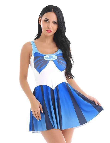 Alvivi Disfraz Escuela Mujer de Sailor Moon Sexi Marinero ...